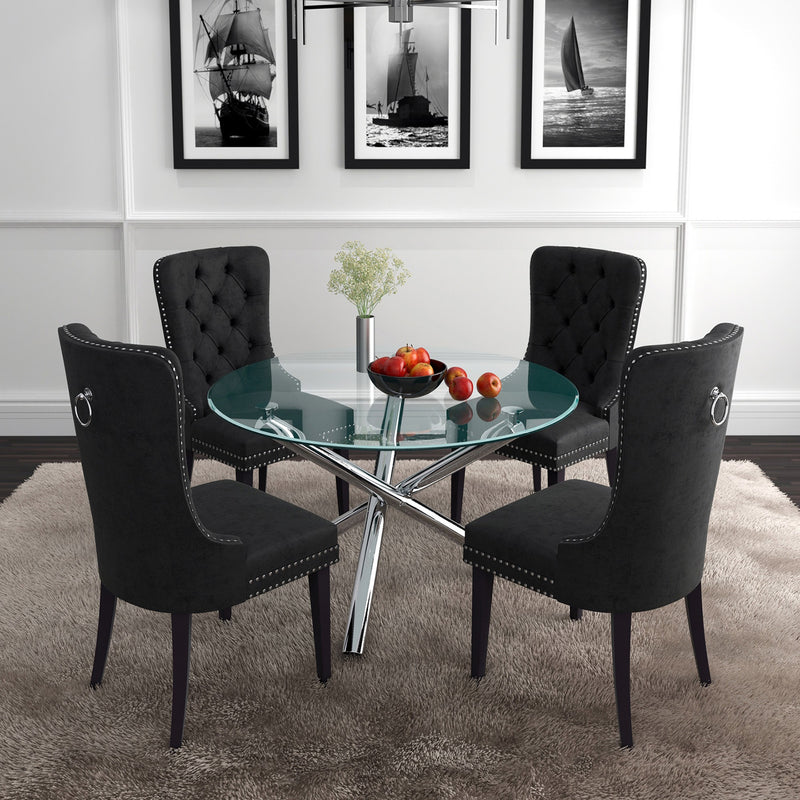 Delia/Calista 5pc Dining Set