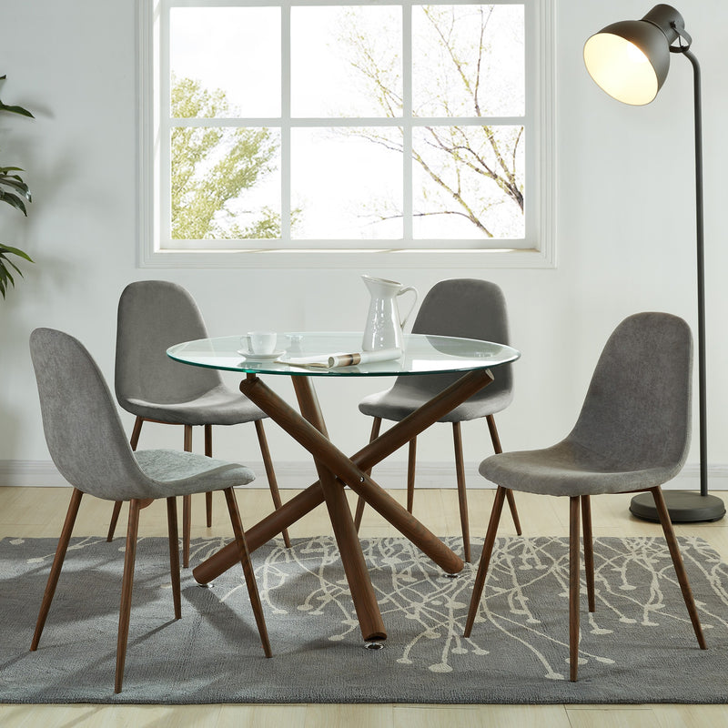 Lacole Dining Chair, Set of 4 - Grey