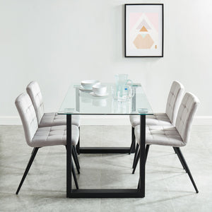 Fadia/Sadi 5pc Dining Set