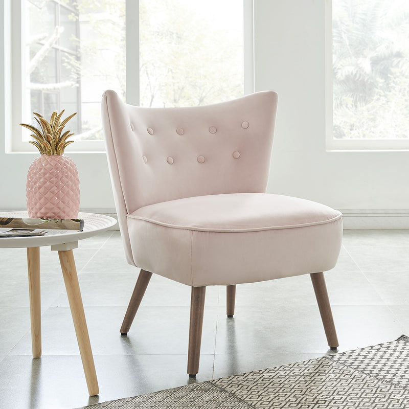 Ebbe Accent Chair - Blush Pink