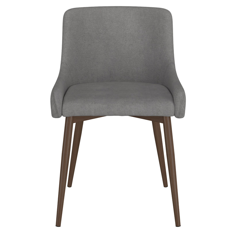 Balin Dining Chair, Set of 2 - Grey with Walnut Legs