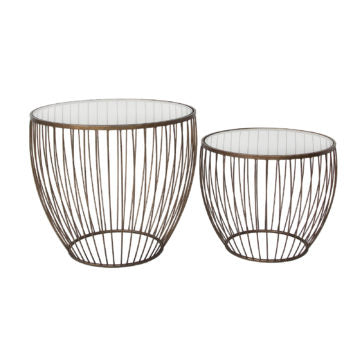 Cadenza Accent Table, Set of 2 - Gold