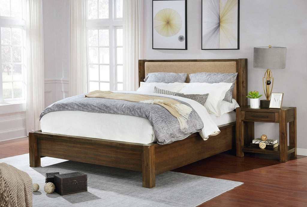 Dagny Platform Bed with Fabric Headboard