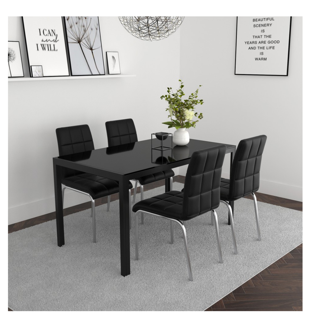 Arista/Demia 5pc Dining Set