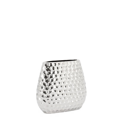 Ballari Short Hammered Ceramic Vase