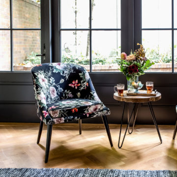 Bardia Accent Chair - Dark Floral