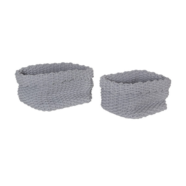 Rahma Rope Basket, Set of 2 - Grey
