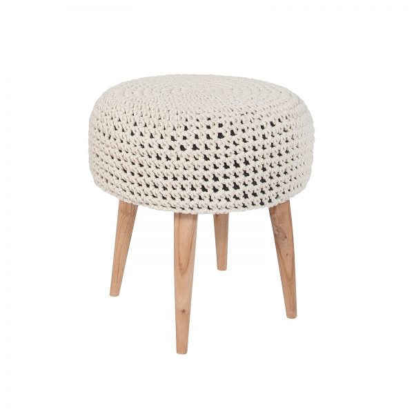 Mabel Macrame Stool
