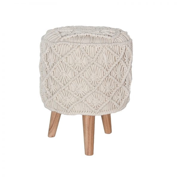 Madge Macrame Stool