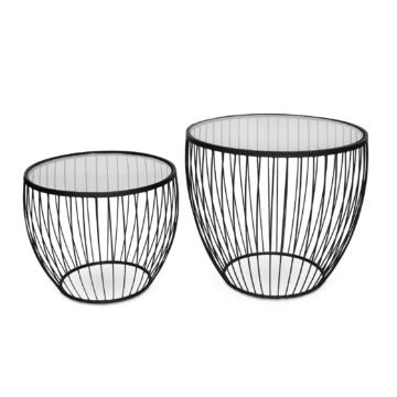 Cadenza Accent Table, Set of 2 - Matte Black
