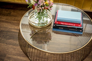Cadenza Coffee Table - Gold
