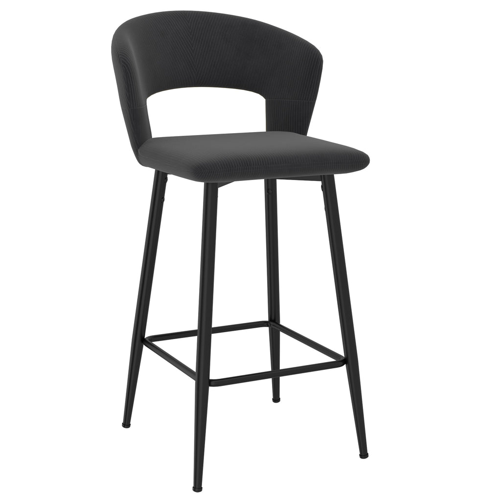 "Calder 26"" Counter Stool, Set of 2 - Charcoal"