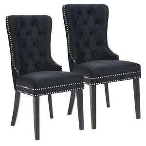 Calista Dining Chair, Set of 2 - Black