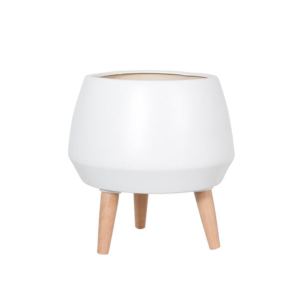 Cahya Pot Planter - White