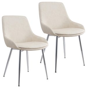 Clena Dining Chair, Set of 2 - Ivory