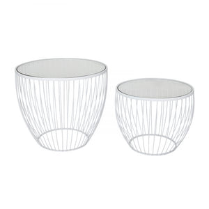 Cadenza Accent Table, Set of 2 - Matte White