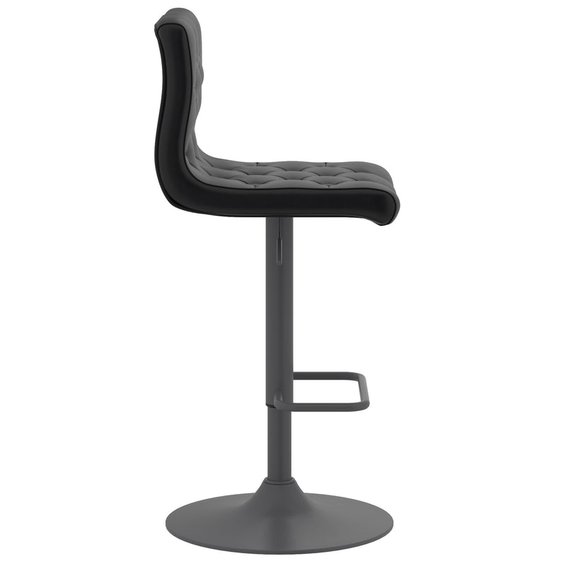 Daker Air Lift Swivel Stool, Set of 2 - Black