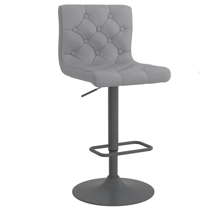 Daker Air Lift Swivel Stool, Set of 2 - Grey