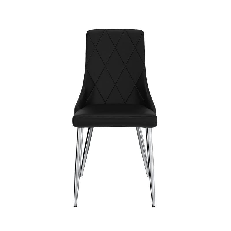 Devin Dining Chair, Set of 2 - Black