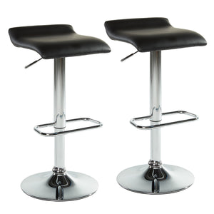 Fala Air Lift Swivel Stool, Set of 2 - Black