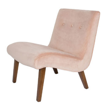Fauna Accent Chair - Pale Coral