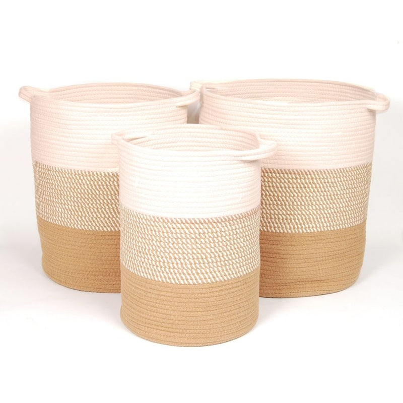 Sagira Cotton Laundry Hampers, Set of 3