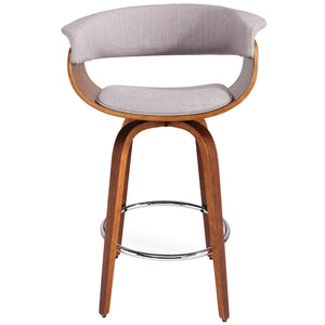 "Harper 26"" Swivel Counter Stool - Light Grey"