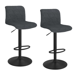 Jadon Air Lift Swivel Stool, Set of 2 - Blue-Grey
