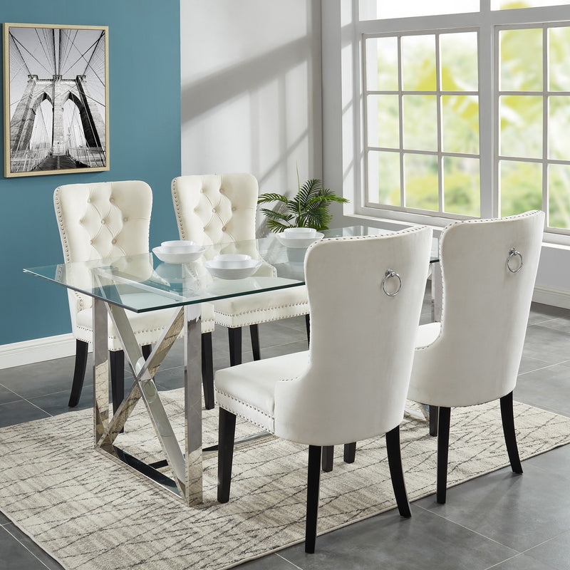Laina/Calista 5pc Dining Set