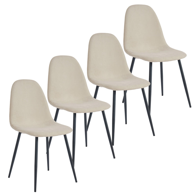 Oda Dining Chair, Set of 4 - Beige