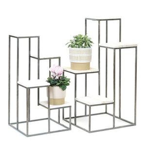 Leesa 4 Tier Plant Stand, Set of 2