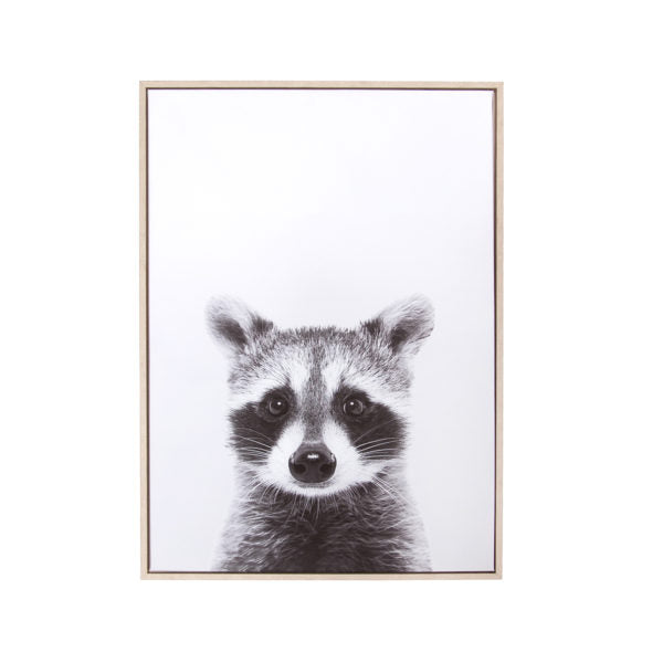"Canvas Wall Art - Raccoon (28"" x 20"")"