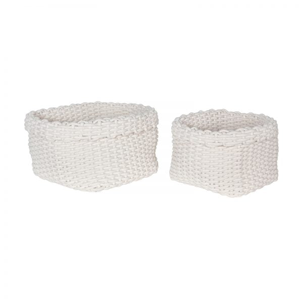 Rahma Rope Basket, Set of 2 - White