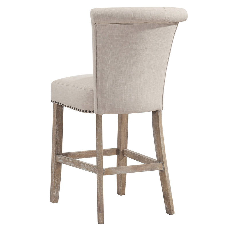 "Saima 26"" Counter Stool, Set of 2 - Beige"