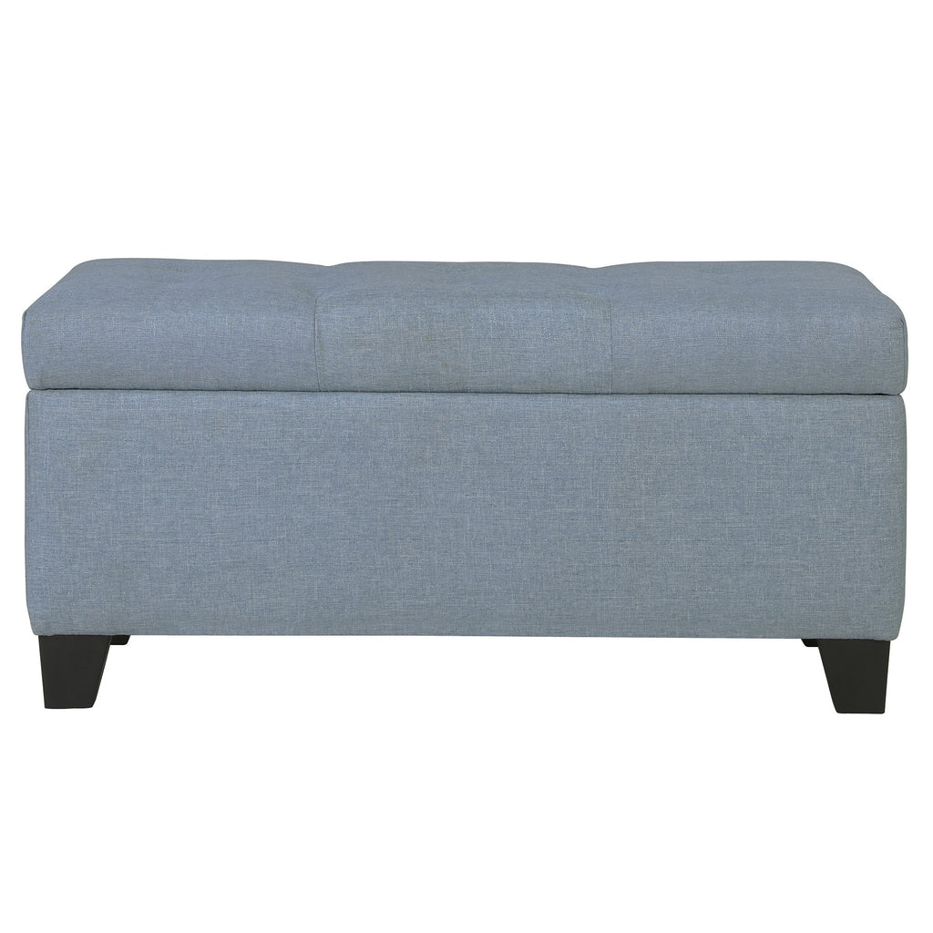 Walker Storage Ottoman - Light Blue
