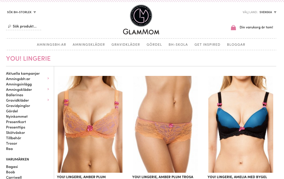 Swedish Retailer of You! Lingerie