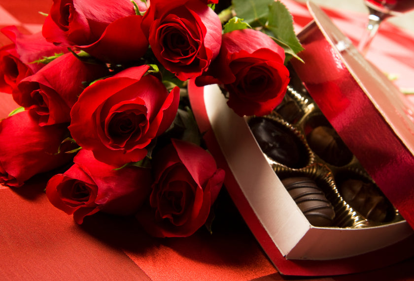 Flowers and Chocolates for Valentines