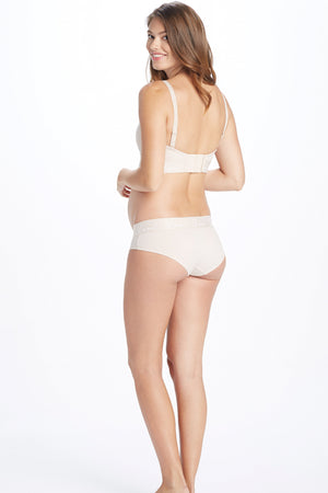Back Shot of Ziva Nude Maternity Panty