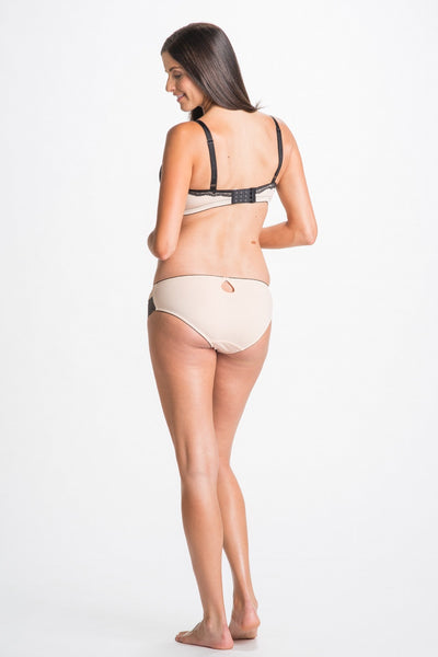 Back Shot of Elise Black & Nude Maternity & Nursing Bra