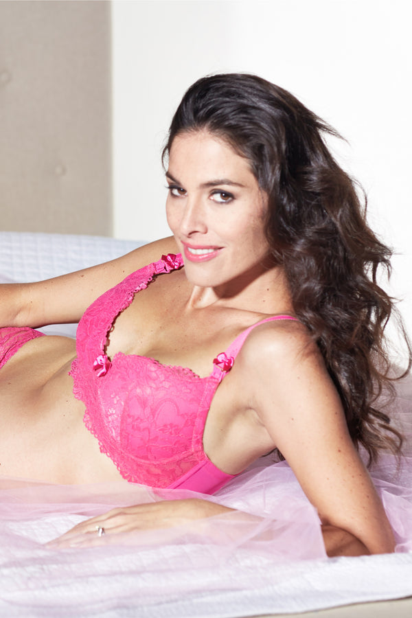 Lifestyle Shot of Ella Rose Pink Maternity & Nursing Bra