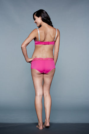Back Shot of Frosty Strawberry Pink Maternity & Nursing Bra