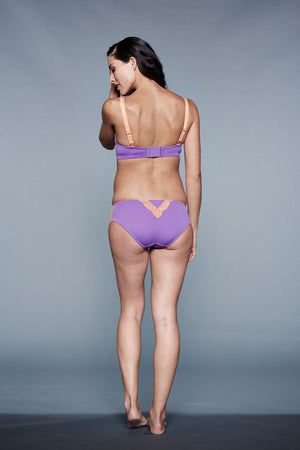 Back Shot of Amber Plum Orange Maternity Panty
