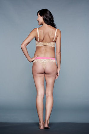 Back Shot of Aurora Pink and Nude Maternity Panty