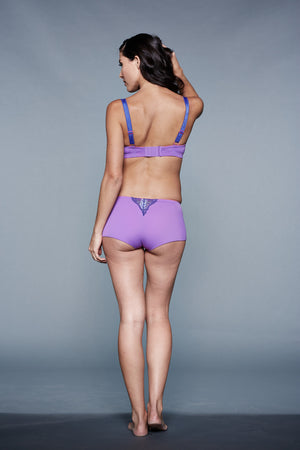 Back Shot of Azalea Purple Maternity Panty