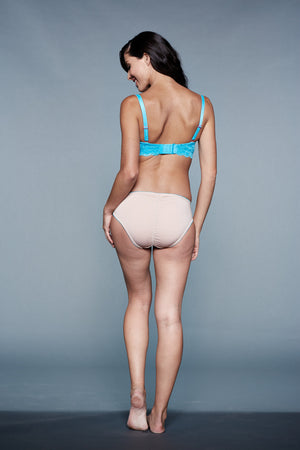 Back Shot of Carmen Nude and Blue Maternity Panty
