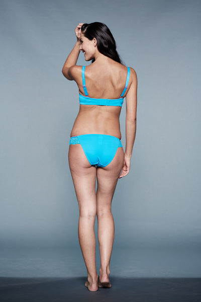 Back Shot of Isis Blue Maternity Panty