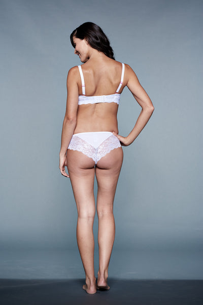 back Shot of Playful You! White Maternity Panty