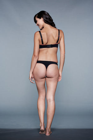 Back Shot of Rumi Black Maternity Panty