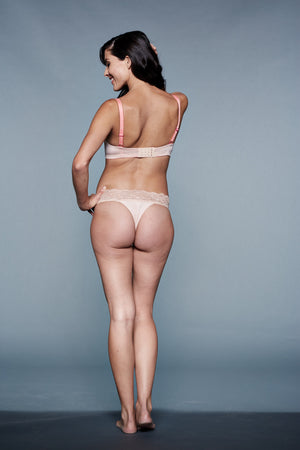Back Shot of Sexy You! Peach & Nude Maternity Panty