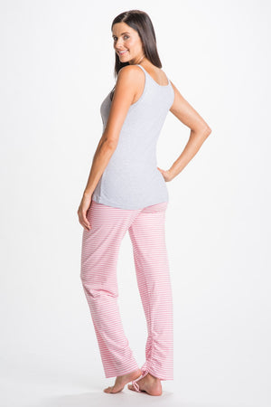 Back Shot of Darcy Gray Maternity and Nursing Pajamas Set
